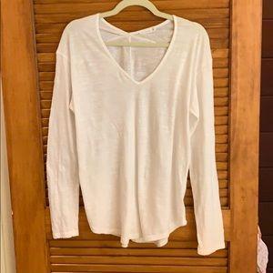 Lush V neck long sleeve cotton shirt Size S